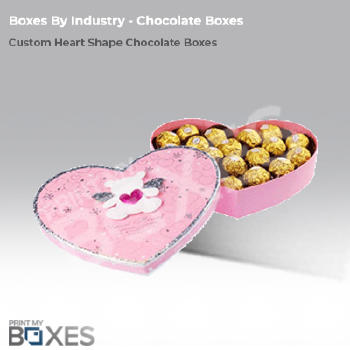 Custom Heart Shape Chocolate Wholesale Packaging Boxes Printmyboxes